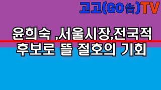 윤희숙,전국적,서울시장으로 뜰 절호의 기회