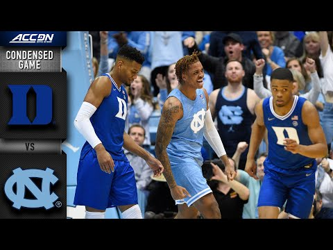 Duke Vs North Carolina Condensed Game | 2019-20 ACC Men's Basketball