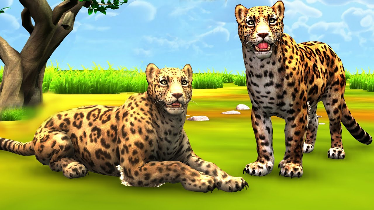 अच्छे और बुरे तेंदुए Two Leopards Hindi Story - Panchatantra Moral Stories - 3D Fairy Tales in Hindi