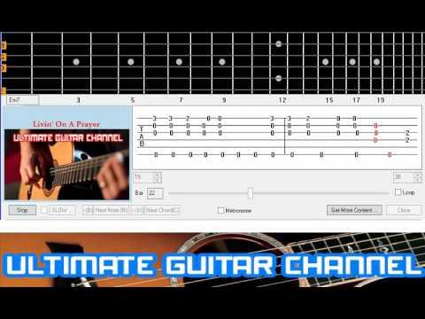 Guitar Solo Tab] Livin\' On A Prayer (Bon Jovi) - YouTube
