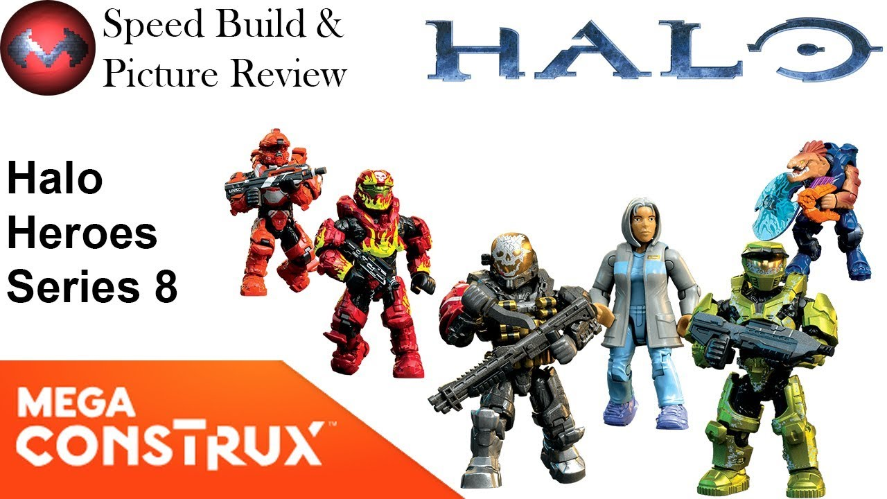 Halo Heroes - Series 8 - Mega Construx Speed Build and Picture Review