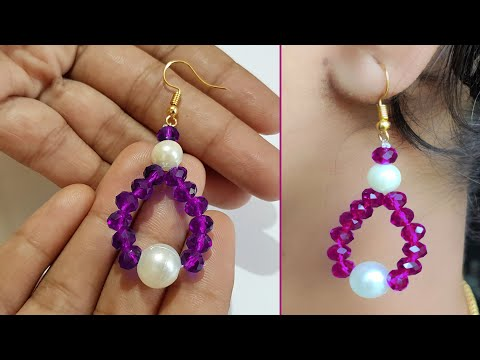 DIY || Homemade Earrings with beads & Crystals
