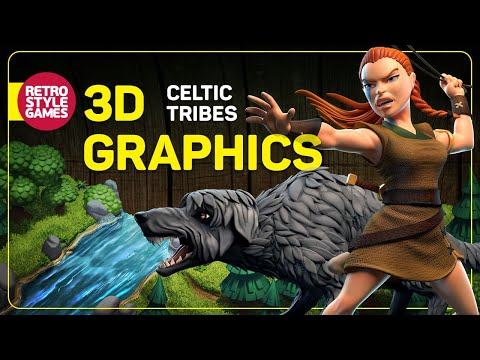 Celtic Tribes - Game Sprites Animations (pre-rendered 3D isometric)