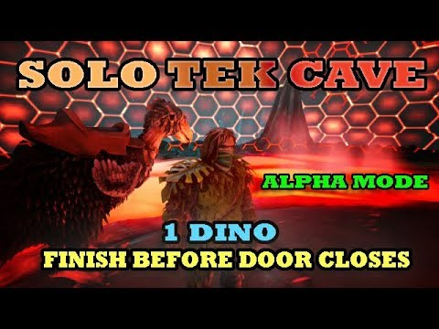 How to solo the Tek cave on alpha mode super fast : option 2
