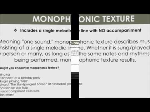 Monophonic and Polyphonic Music Examples