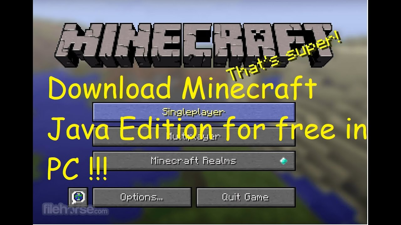 How To Download Minecraft Java Edition for FREE !!! - YouTube