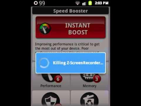 Speed Booster   (Samsung Galaxy Y)