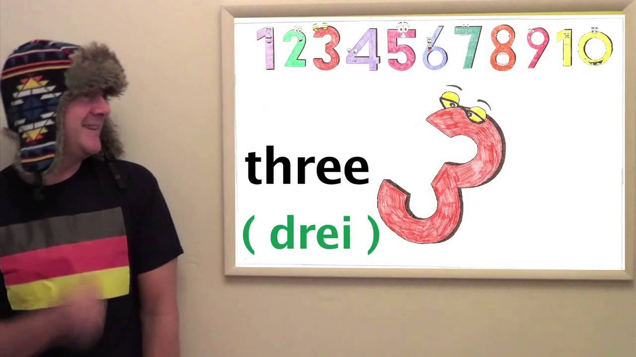 Learn German - Lesson 1 - count from 1 - 10 with Deutsch counting song &  Jingle Jeff - Deutschland