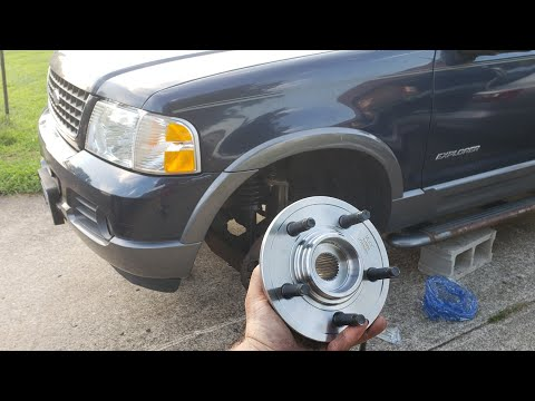 02-05 Ford Explorer Front Wheel Bearing Hub Replacement How to Remove & Install