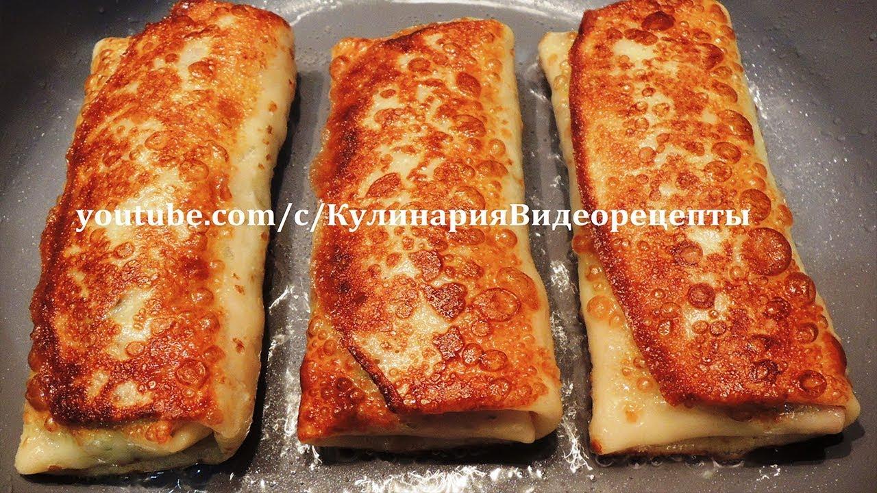 Блинчики с фаршем с сыром 1