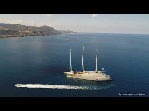 EIGHT STOREY £360,000,000 Sailing Yacht 'A' to Akamas Bay Cyprus