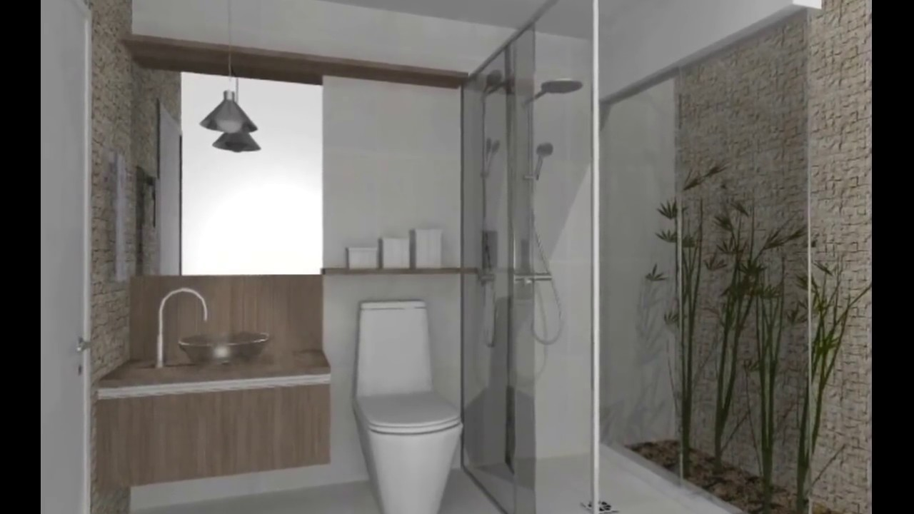 IDEIAS PARA BANHEIROS PEQUENOS  Dicas de Arquitetura  YouTube -> Banheiro Planejado Pequeno