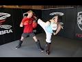 Taekwondo Girl vs Boxing Guy Real Sparring