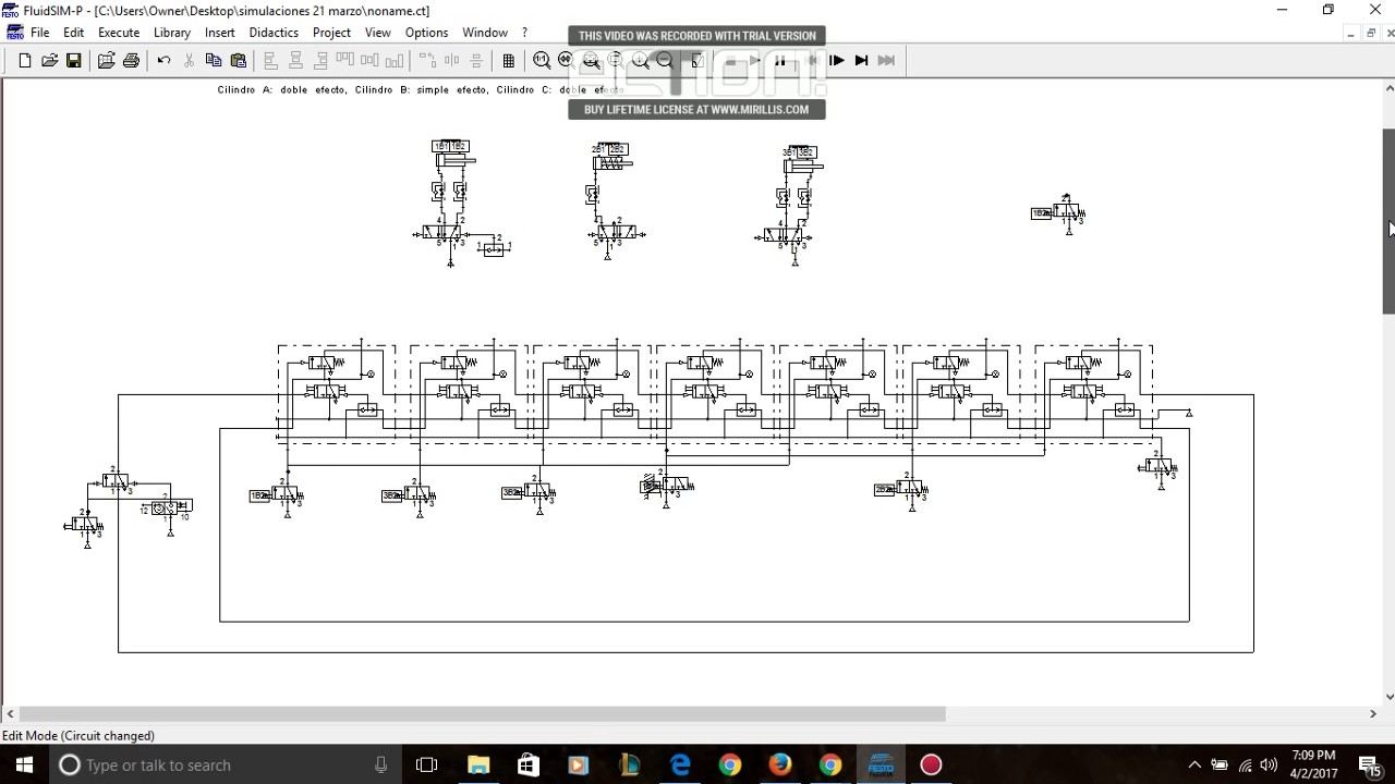 Circuito Neumatico Simple : Circuito neumatico por el metodo de modulo de pasos youtube