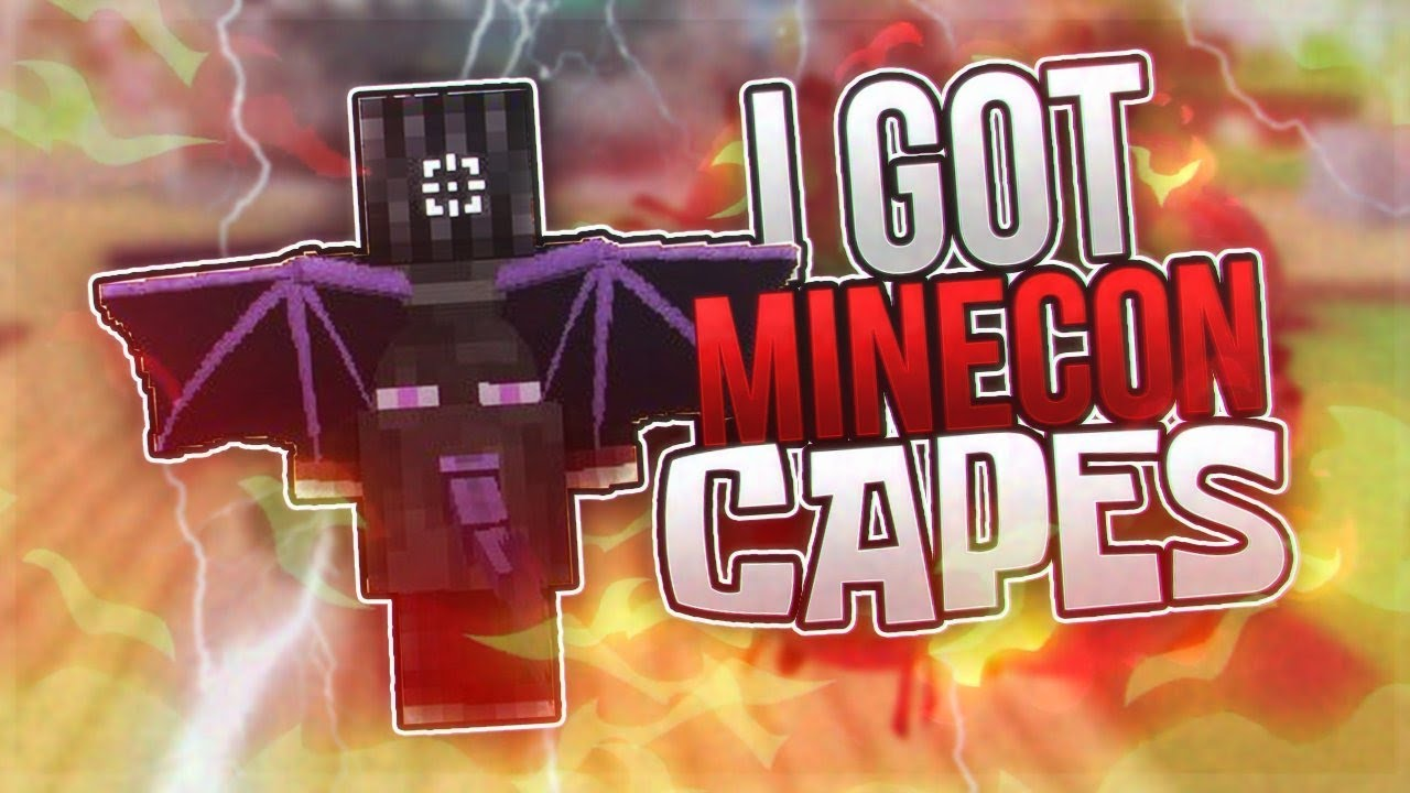 how to get a minecon cape
