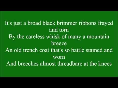 Broad Black Brimmer with lyrics