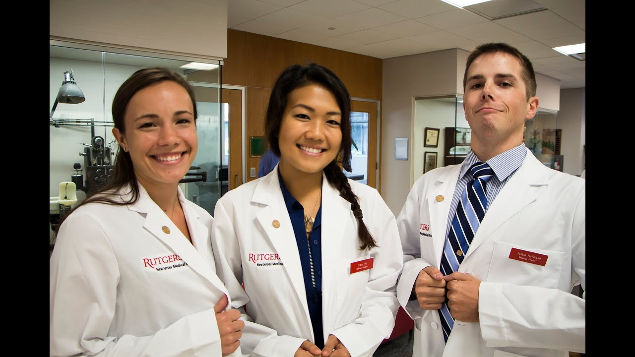 Rutgers Celebrates First White Coat Ceremony - YouTube