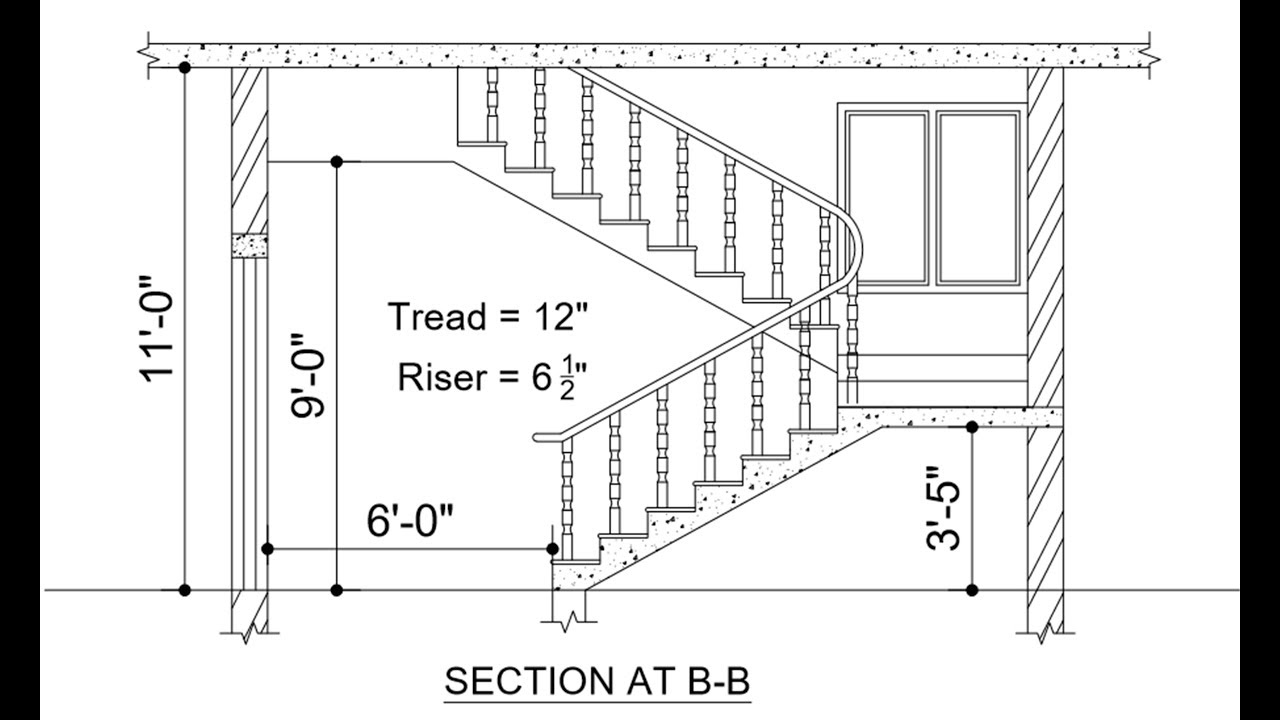 hight resolution of full drawing for staircase staircase cross section full details drawing