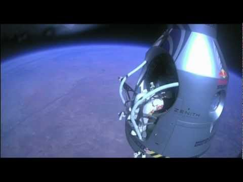 Felix Baumgartner world record supersonic skydive, complete footage, unaltered capture, HD