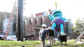 Nineteen foot tall 3D Hugo Charlotte Hornets Billboard