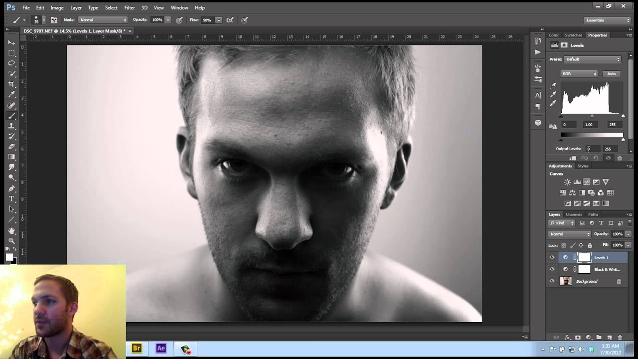 photoshop tutorial grey out method