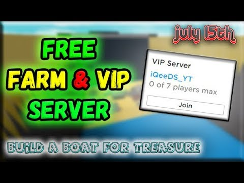 Working Free Vip Server Build A Boat For Treasure Easy