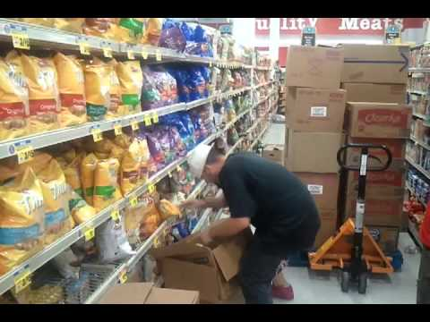 fastest shelf stocker ever youtube - Stocking Jobs At Walmart