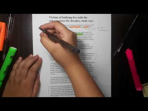 READING STRATEGY (ANNOTATING AN ARTICLE)