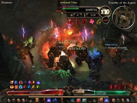 Grim Dawn Gladiator Crucible Builds