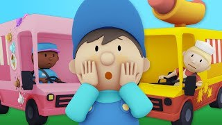 Hot Dogs And Ice Cream! YUM! Carl Washes Food Trucks at Carl's Car Wash! | Cartoons For kids