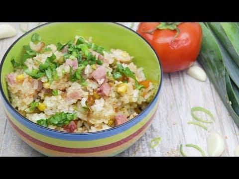 Как приготовить рис с овощами в рисоварке.