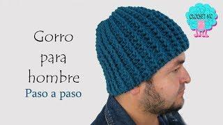 Tutorial gorro para hombre a crochet/ principiantes