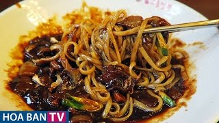 Korean Noodles with Blackbean Sauce | Mỳ Đen Hàn Quốc