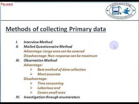Statistical Description of Data CA CPT Part 1