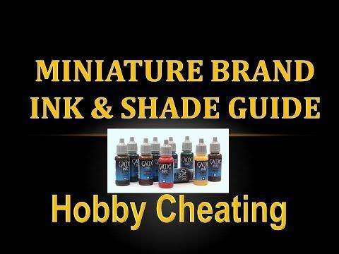 Hobby Cheating 165 - Miniature Brand Ink & Shade Guide