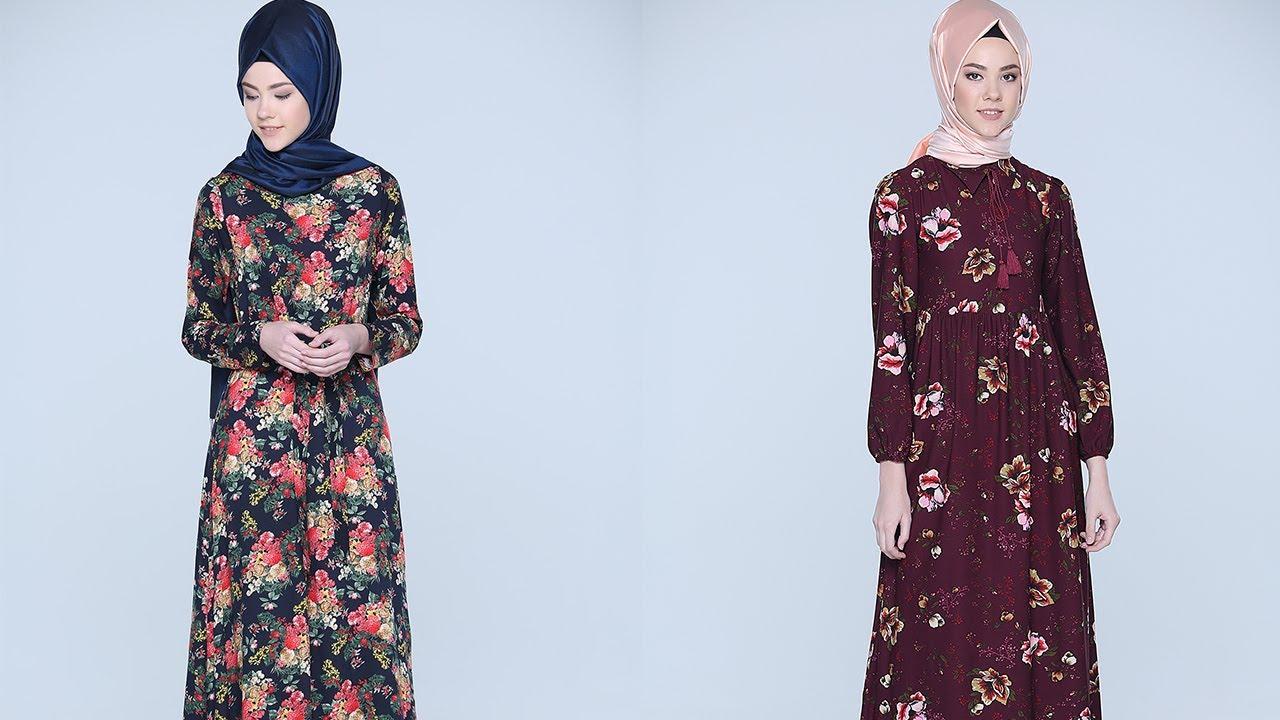 2893a5b0a08a4 Tozlu Giyim 2017 Tesettür Elbise Modelleri 1/2 - YouTube