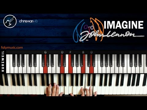 Como tocar Imagine en Piano JOHN LENNON | Tutorial COmpleto