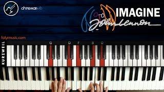 Como tocar Imagine en Piano JOHN LENNON | Tutorial COmpleto