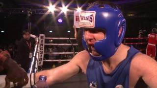 Bout 8 - Nick Strain vs  Graham McNeill - IFS White Collar Boxing Hong Kong 2nd Mar 2013