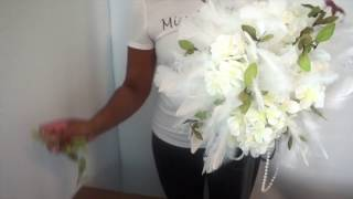 MissPlanIt Flash Back Friday DIY: Tutorial  Feather Fancy Centerpiece