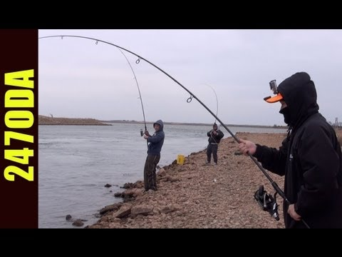 Awesome Fishing Day @ Sooner Lake Discharge – 247 OutDoor Addiction