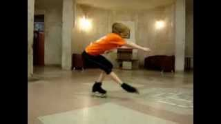 Figure skating off ice.Roller-Snow white (фигурное катание на роликах)