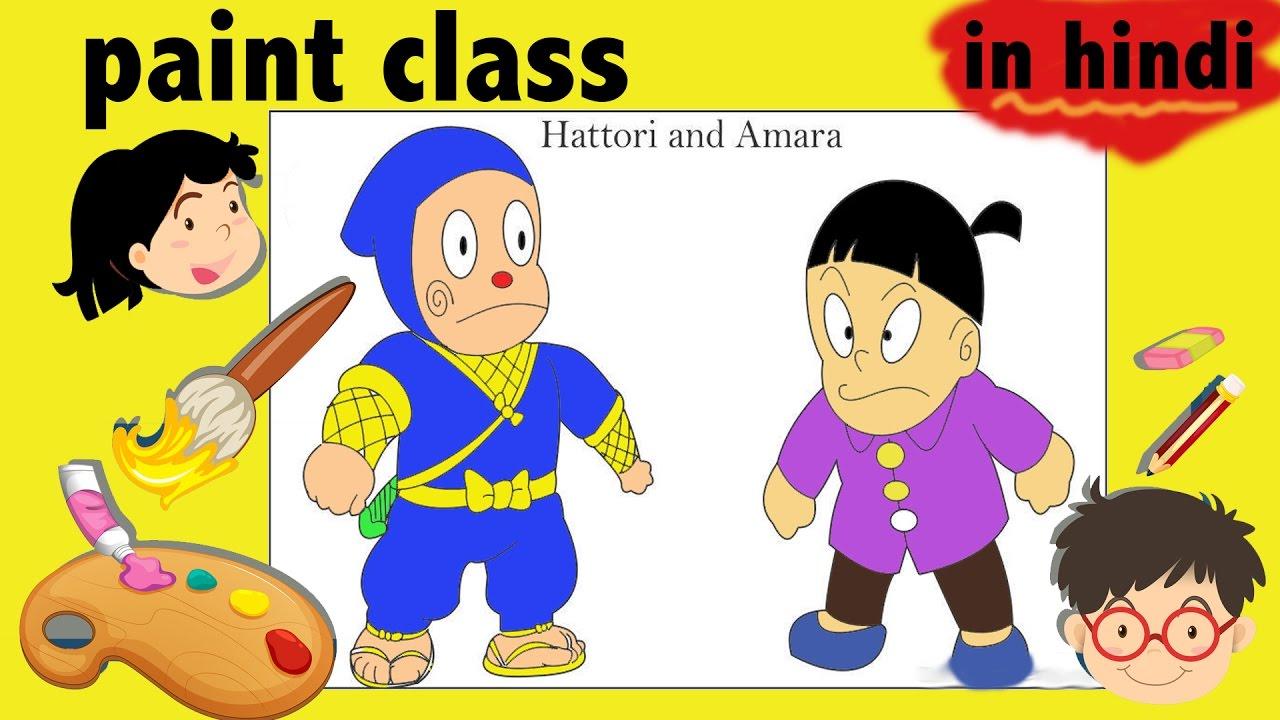 ninja hattori coloring page from ninja hattori movie in hindi