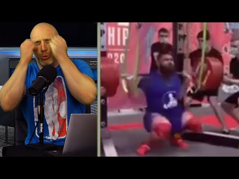 Pro-Powerlifter (Alexander Sedykh) Suffers HORRIBLE 400kg Squat Accident REACTION!