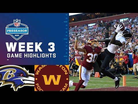 Baltimore Ravens vs. Washington Football Team | Preseason Week 3 2021 NFL Game Highlights