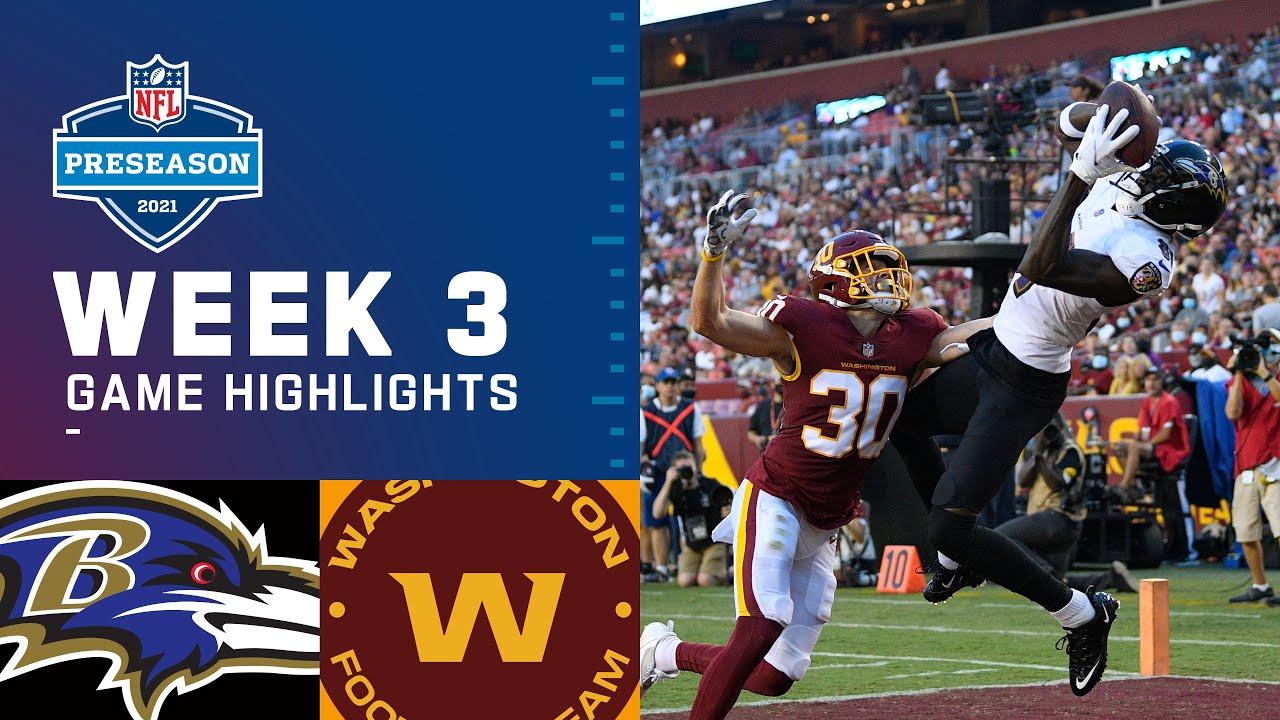 Download Baltimore Ravens vs. Washington Football Team   Preseason Week 3 2021 NFL Game Highlights