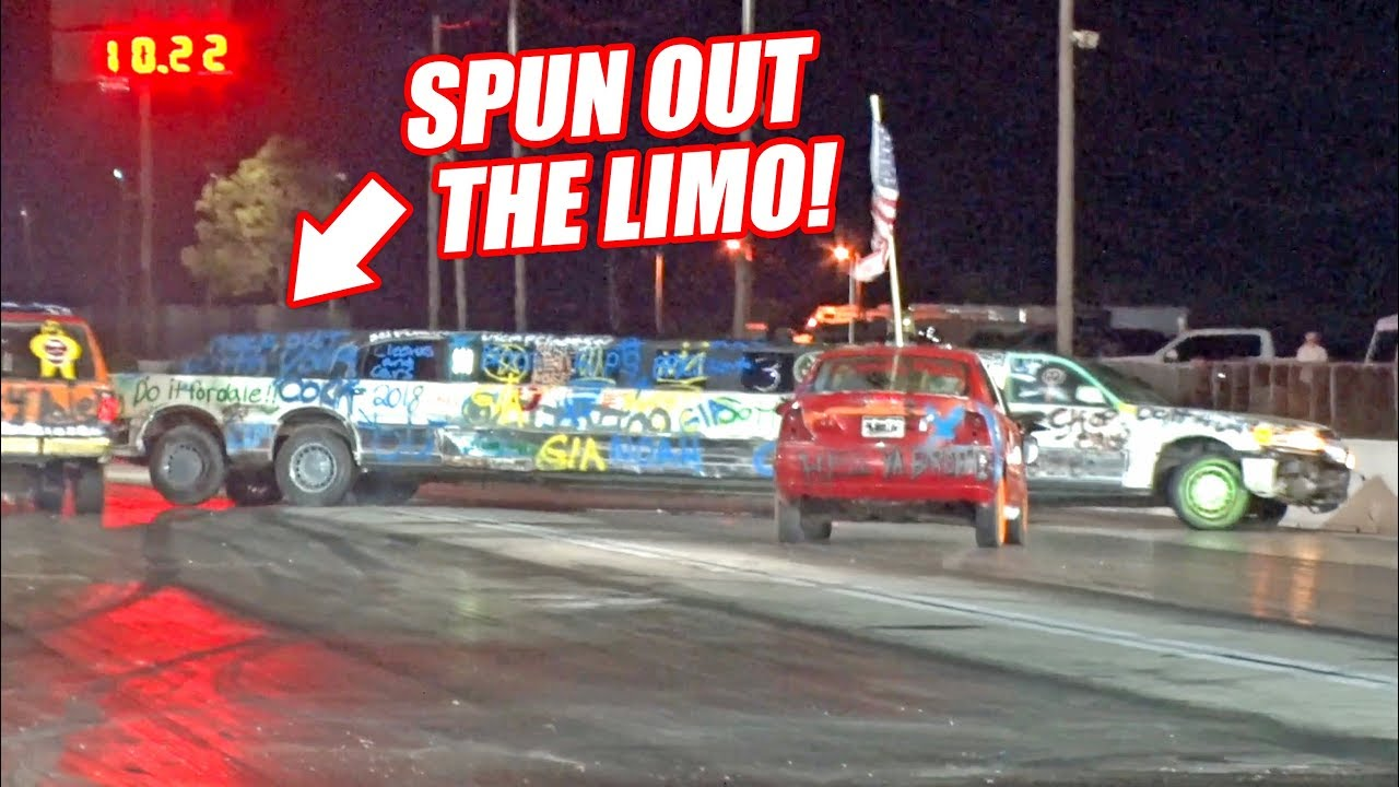 Our Limo Got PIT MANEUVERED! Demolition Drag Racing at Cleetus and Cars 2018!