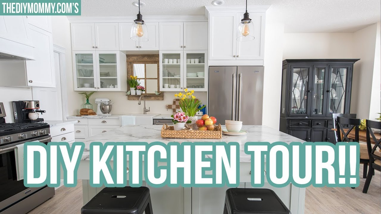 budget friendly kitchen tour at mom s lake house youtube