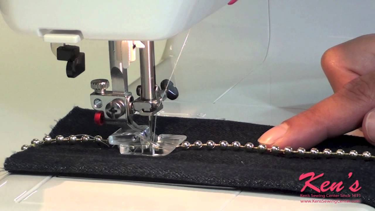 How to use the janome sewing machine beading foot youtube