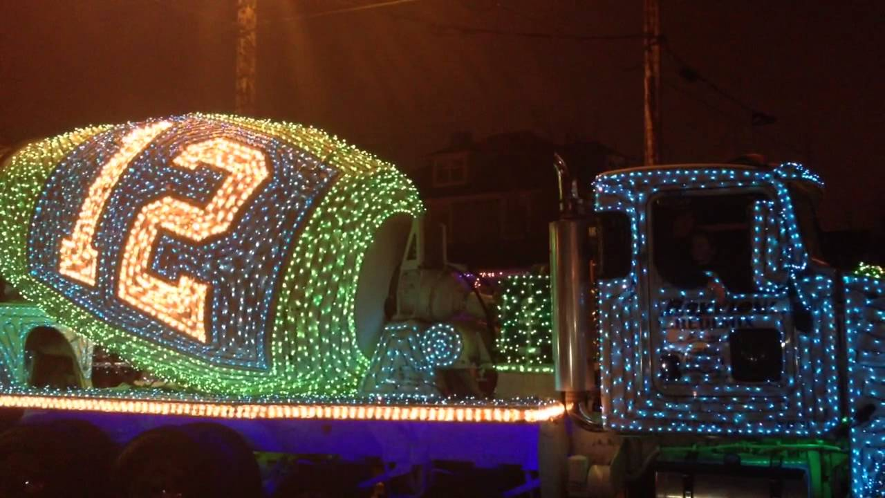 Seahawks Christmas Lights.Seahawks 12th Man Bayview Redi Mix Cement Mixer Truck